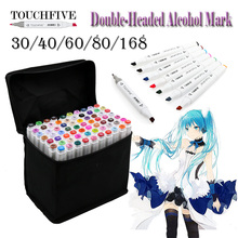 Touchfive Double Headed sketch art Supplies mark pen Alcohol Marker soluble cartoon graffiti markers pens for designers