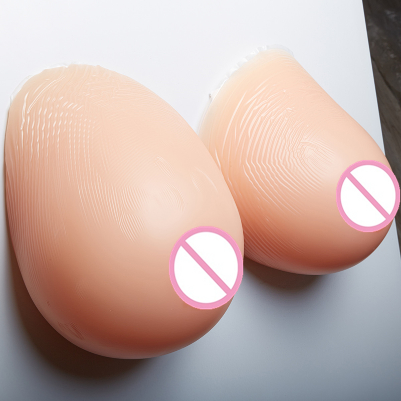 Fake Silicone Breast Forms 4600g/pair Adhesive False-Breasts Artificial Boobs Crossdressering Breast Enhancers 4600g pair beige crossdresser silicone breasts huge breast forms huge boobs false fake breast boobs silicone artificial breasts