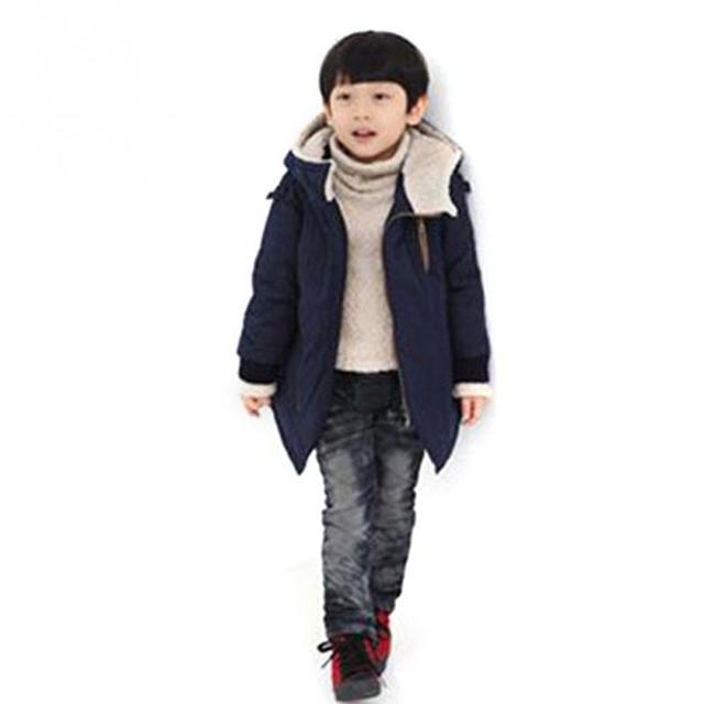 be884680bd03 Brand New Boys Girls Winter Coat Kids Sport Hoodies Winter Outerwear ...