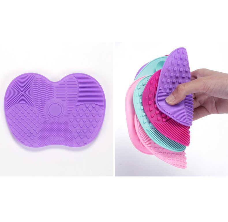 Silikonowy pędzel do makijażu Płyta do szorowania makijaż szczotka do czyszczenia Pad makijaż szczotka do mycia fundacja żel mata do czyszczenia narzędzi ręcznych