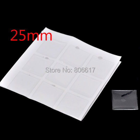 Best Quality 180 Piece Clear Square Epoxy Domes Resin Stickers 25mm For Photo Craft Jewelry Making(W01563 X 1)