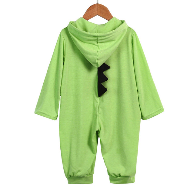 Baby Boy Girl 3D Dinosaur Costume Solid Rompers warm spring autumn cotton romper Playsuit Clothes Newborn Infant Hooded