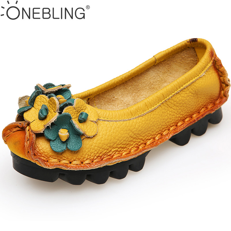 Genuine Leather Sewing Shoes 2017 Spring Autumn Fashion Women Casual Shoes Appliques Soft Slip-on Ladies Flat Shoes Plus Size 42 hot sale 2016 new fashion spring women flats black shoes ladies pointed toe slip on flat women s shoes size 33 43
