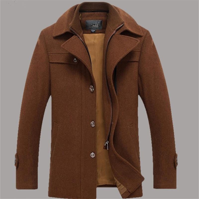 Mens Brown Wool Coat Gvx2ev