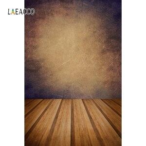 Image 4 - Laeacco Gradient jednokolorowe drewniane podłogi Grunge tła do fotografii portretowej Baby Shower tło do zdjęć rekwizyty studyjne