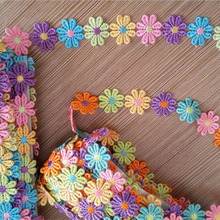 latest lovely heart shape 5 yard/lot water soluble lace ribbion trim YY401