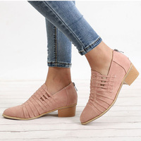 Plus Size 35 43 Women Shoes 2018 New Autumn Winter Ankle Boots Round Toe Fashion Casual Women Single Boots