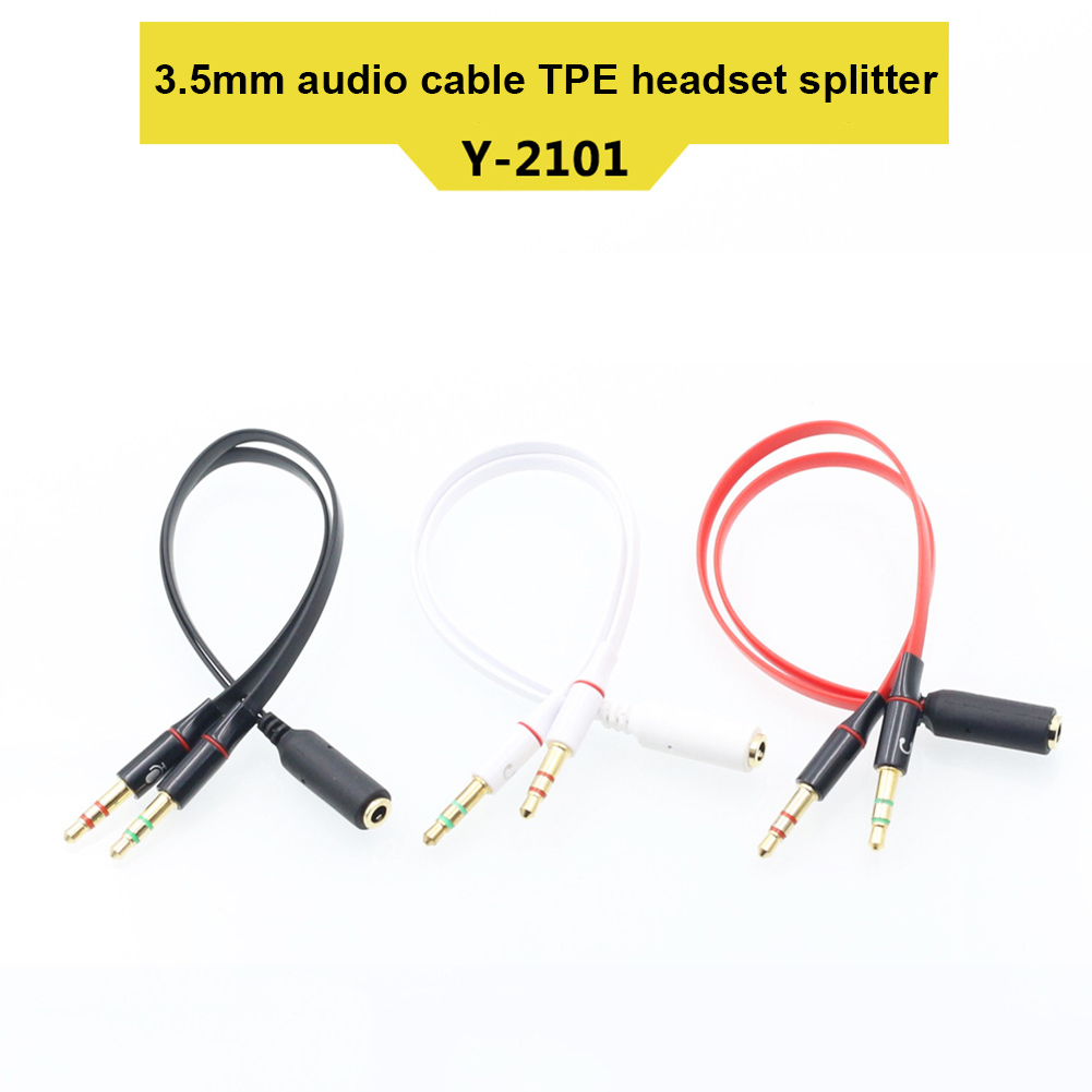 Computer & Office 3.5mm Stereo Jack Plug To Twin Mono Splitter Or Combiner Adapter Cool In Summer And Warm In Winter