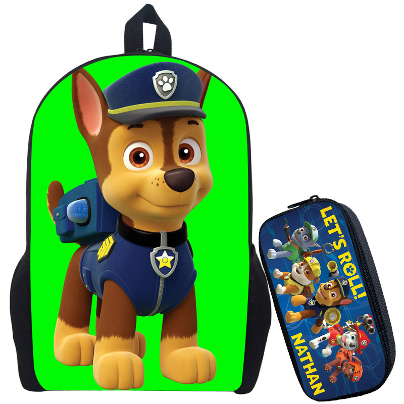 купить Puppy Patrol Backpack Boys Girls School Bags Children Mochila Infantil Kindergarten Backpacks Kids Bag Patrulla Canina онлайн