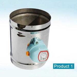 Image 2 - 125 millimetri in acciaio inox aria serranda valvola HVAC condotto di aria elettrica motorizzato damper per 5 pollici tubo di ventilazione valvola 220V valvola dellaria