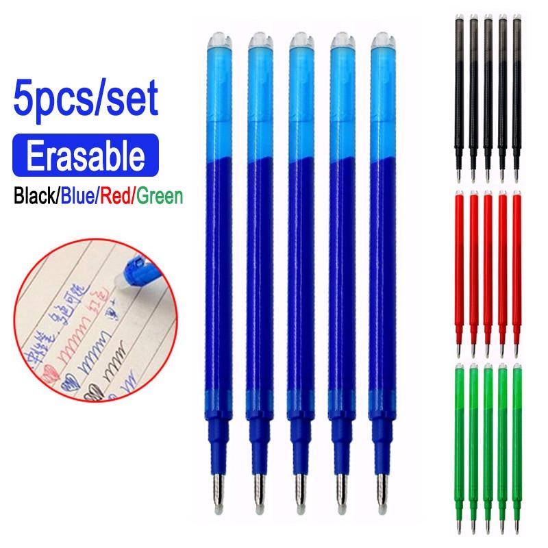 0,7 мм стираемая ручка с заправляемым стержнем Кнопка слайд Пресс моющиеся ручка красные, синие 8 расцветок набор чернил канцелярские стерже...