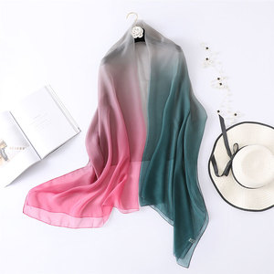 Image 3 - 2020summer silk scarf for women shawls and wraps fashion large size scarves pashmina beach stoles foulard lady echarpe hijabs