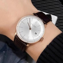 2020 riff Tiger/RT Top Band Luxus Kleid Uhr für Männer Rose Gold Automatische Uhren Braun Lederband RGA8215