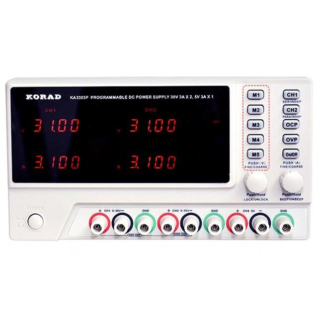 KORAD alimentation Programmable en trois voies KA3303P, Programmable en continu réglable, Interface USB, avec télécommande, données synchronisées