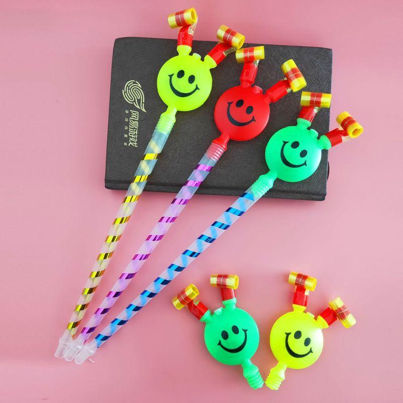 1 Stücke Kreative Lächeln Blasen Blasen Pfeife Blasen Volumen Spielzeug Geburtstag Party Aktive Atmosphäre Jubeln Requisiten Kinder Spielzeug