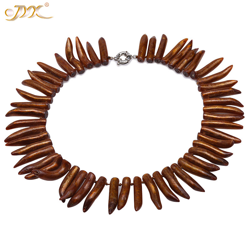 JYX Rare Golden Coral 8.5*40mm Irregular Golden coral Necklace 20.5 very elegant and golden shinning wild charming bohimiaJYX Rare Golden Coral 8.5*40mm Irregular Golden coral Necklace 20.5 very elegant and golden shinning wild charming bohimia