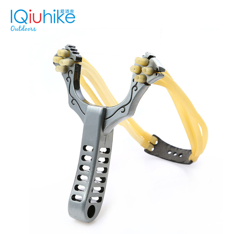 Outdoor Professional Shot Slingshot Sling Shot Aluminium Alloy Catapult Bow Outdoor Game Playing Rubber Band Travel Tools Marble