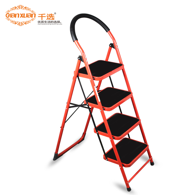 Household Ladder Thickening Ladder Household Folding Ladder Stair Ladders Free  Shipping