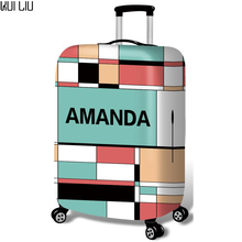 Thickened Luggages Protective Cover Trolley Cases Waterproof Elastic Suitcases Bag Dust Rain Covers  Amanda Checkered Print