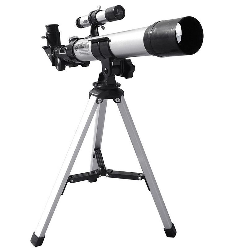HD 32X Refractive Astronomical Telescope with Finderscope F40040 Monocular Refractor for Student Children Beginner Use
