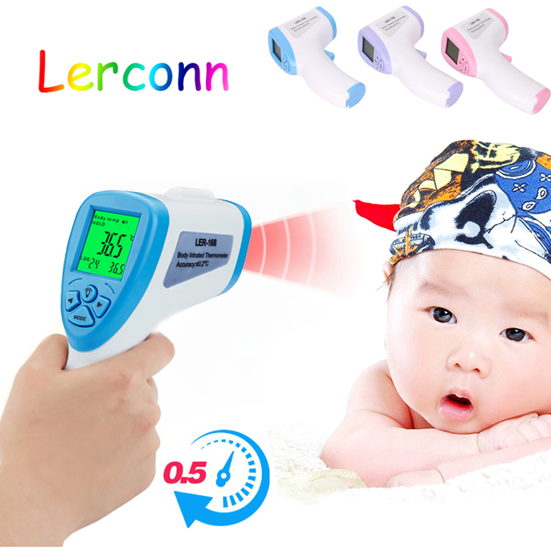 Baby/Adult Digital Termomete Infrared Forehead Body Thermometer Gun Non-contact Electronic Digital Thermometers For Baby Care guucy infrared digital thermometer body water electronic led auto baby thermometer adult forehead non contact with lcd backlight