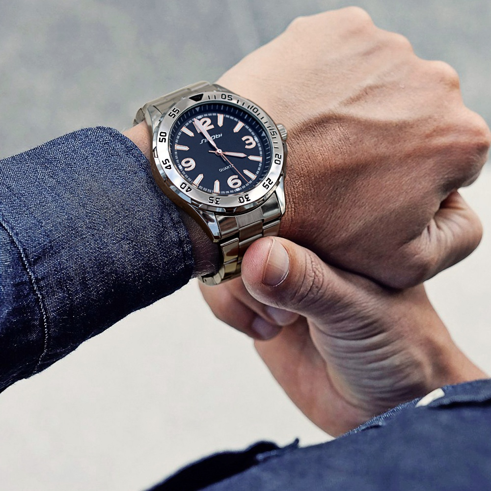 SINOBI Relogio Masculino for watch man Luxury Brand saat Business Men's Watches Sports Fashion Luminous Waterproof Wrist Watch