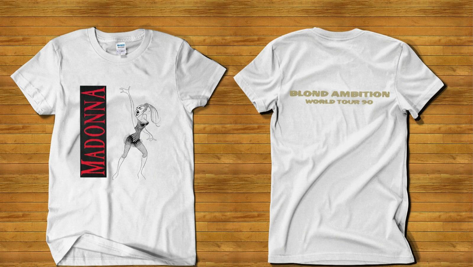 fba7adda52a Madonna Blond Ambition World Tour concert Gilda T shirt Sz S