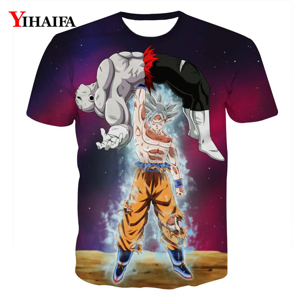 Creative Man 3D T shirt Dragon Ball Z Print Anime Goku Saiyan Casual Tee Shirts Men Cartoon Graphic Tee Crew Neck Tops(China)