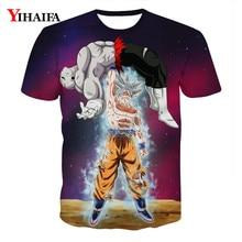 Creative Man 3D T shirt Dragon Ball Z Print Anime Goku Saiyan Casual Tee Shirts Men Cartoon Graphic Tee Crew Neck Tops cartoon figure print tee