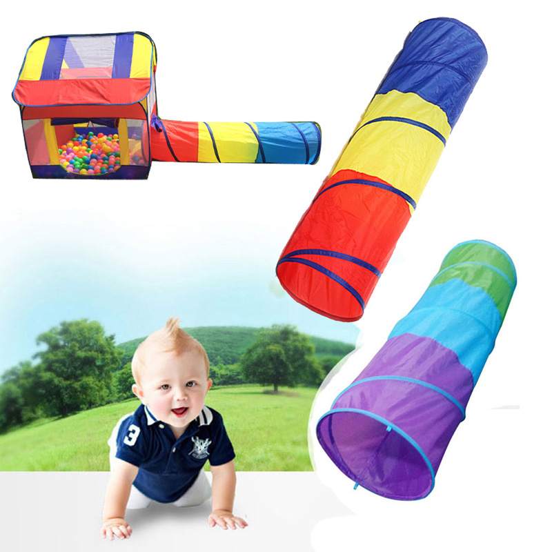 New Three Colors Toy Crawling Tunnel Children Outdoor And Indoor Toy Tube Baby Play Crawling Games Access To The Tent