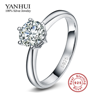 Have S925 Silver Security LOGO Solid 925 Silver Wedding Rings For Women Classic Crown Inlay 2
