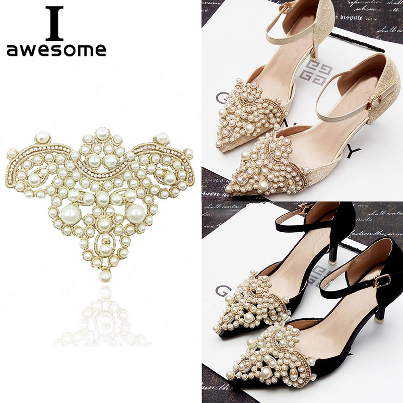 1pcs Crown Bridal Wedding Party Shoes Accessories For High Heels Sandals Boots DIY Manual Rhinestone Decorations Shoe's Flower