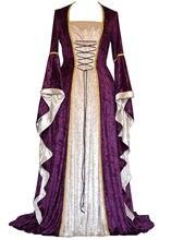 Женское бархатное вечернее платье винтажное праздничное средневекового