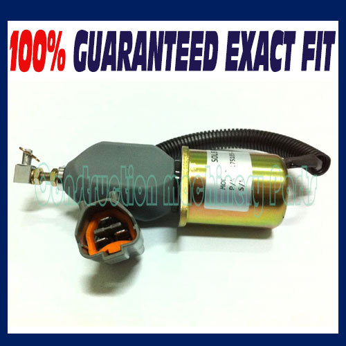 Fast free shipping, Fuel Shutdown solenoid 1751ES-24A3UC12B1S 24 Vdc For Hyundai Excavator R60-5 Yanmar 3924450 2001es 12 fuel shutdown solenoid valve for cummins hitachi