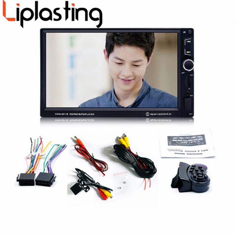 Liplasting 7  HD 1080P Touch Screen Car Radio MP5 Player Bluetooth MP5 1080P Car Audio Support Rear View Camera DVD Player 2din 7inch car bluetooth mp5 player reversing rear view camera function car radio gps navigation car radio media player rk 7157g