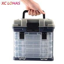 27*17*26 см 5 слоев PP + ABS большие рыболовные снасти коробка высокого качества пластиковая ручка Рыболовная коробка Карп рыболовные инструменты рыболовные аксессуары