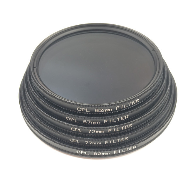 CPL Circular Polarizer Camera filter for Canon Nikon DSLR Camera lens 52mm/55/58/62/67/72/77/82mm