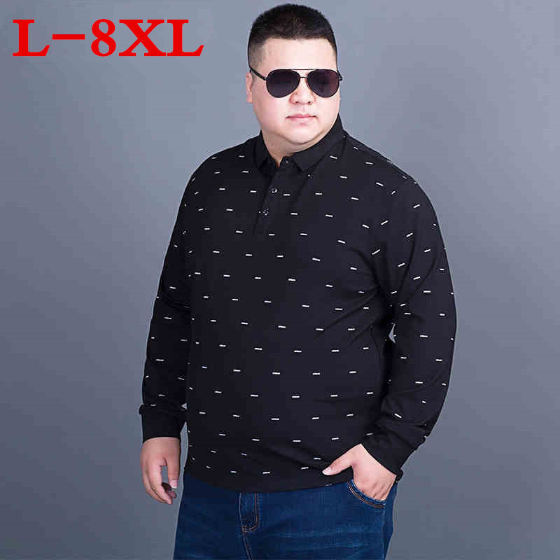 2018 nouvelle grande taille 8XL 7XL hommes t-shirts coton Anti-rides nouvelle marque hommes Designer décontracté à manches longues solide t-shirts Homme