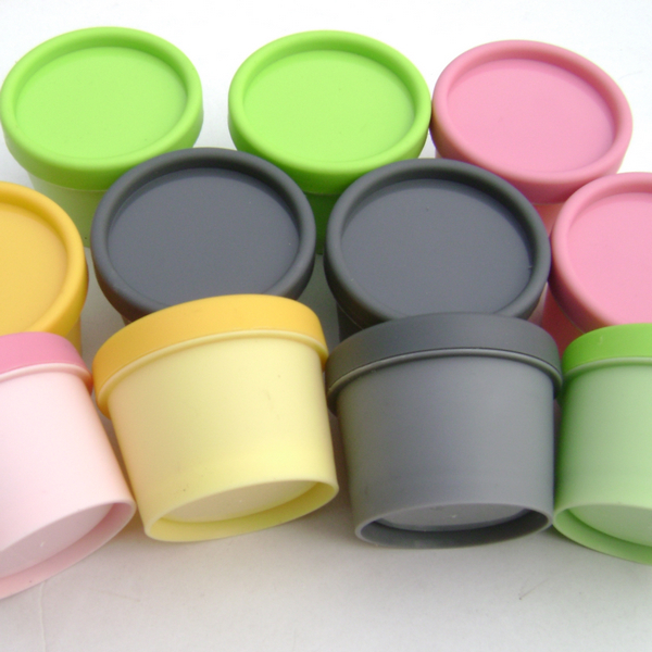 50pcslot 50g PP Cylinder Mask Containers Round Cream Bottles Mask Jars
