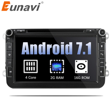 "Eunavi 8"" Quad Core 2 Din Android 7.1 Car DVD Player For VW JETTA Tiguan Passat B6 Touran Caddy Amarok Golf EOS GPS Navi Radio"