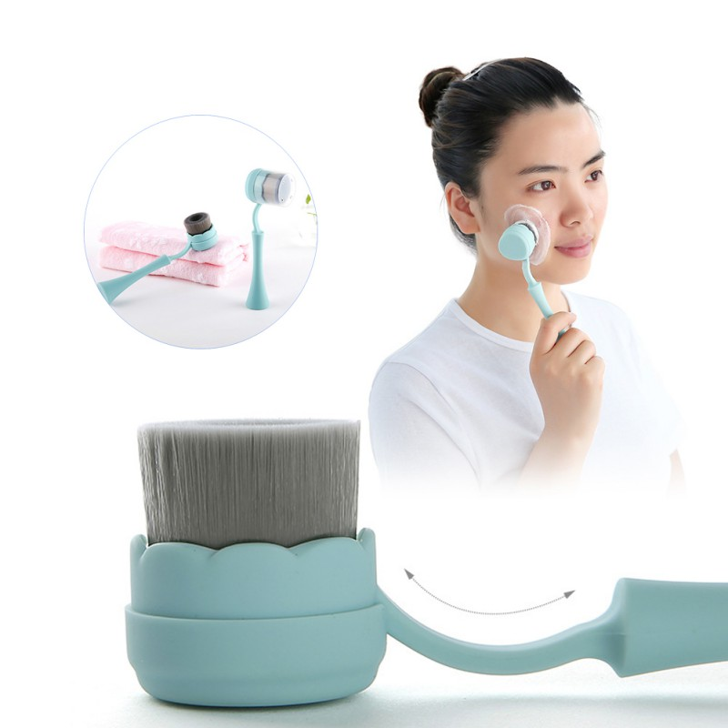 Sensitive Skin Soft Cleansing Bristles and Silicone Exfoliating Pad Multi-Functional Facial Brush Perfect Face Brush R1 image