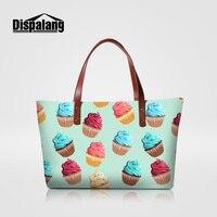 Dispalang 2018 bags handbags women famous brands summer beach bag for girls ice cream print woman shoulder wedding party handbag