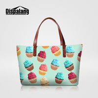 Dispalang 2018 bags handbags women famous brands summer beach bag for girls ice cream print woman shoulder wedding party handbag