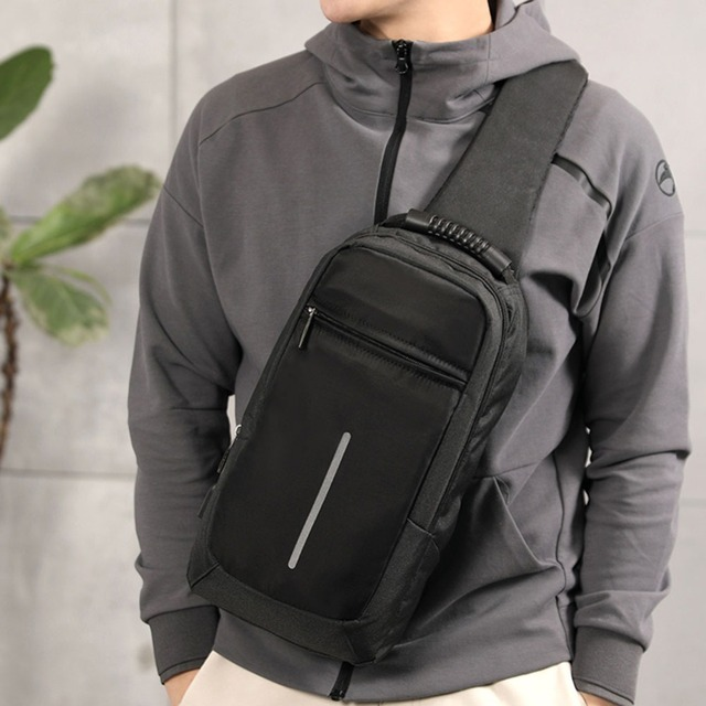 43768be232ac US $11.6 37% OFF|Men Sling Bag Chest Messenger Bag USB Charging Big  Capacity Soft Canvas Shoulder Bags Men Pack Crossbody Vertical Square Bag  -in ...