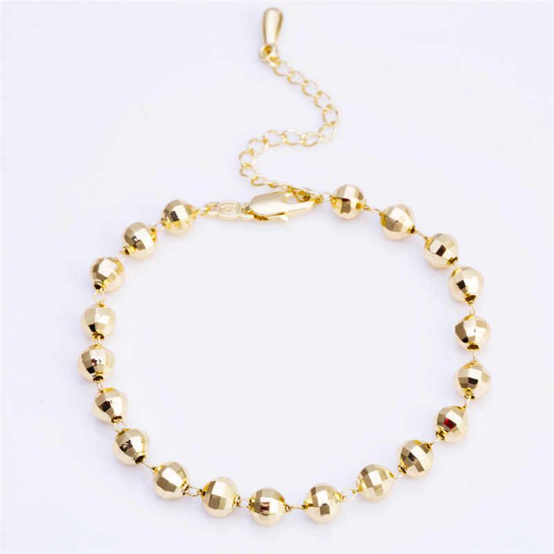 Круглые браслеты для лодыжки геометрической формы для женщин сплав металлический материал пляж морской случай друг любовник подарки бренд Модные ювелирные изделия