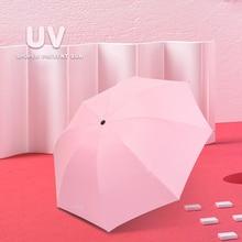 uv sunshade pocket  umbrella beach mini fashiona female automatic parasol fashionable folding umbrellarain woman