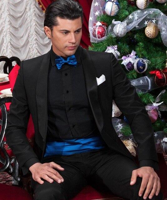Latest Design Mens Suits Groom Classic Black Tuxedos Groom Wedding ...