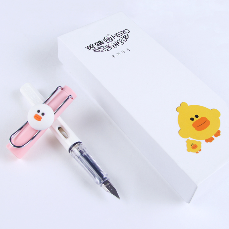 Lovely Student Pen for Writing  0.5mm Nib Hero 359 Fountain Pens Office & School Supplies Free Shipping fountain pen m nib hero 1508 dragon clip signature pens the best gifts free shipping