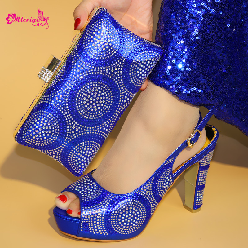 1719-2 Shoes and Bag Set African Sets r.blue Color Italian Shoes with Matching Bags fashion Women Shoes and Bag yh01 hot sale african matching shoes and bag with stone fashion dress shoes and bags free shipping