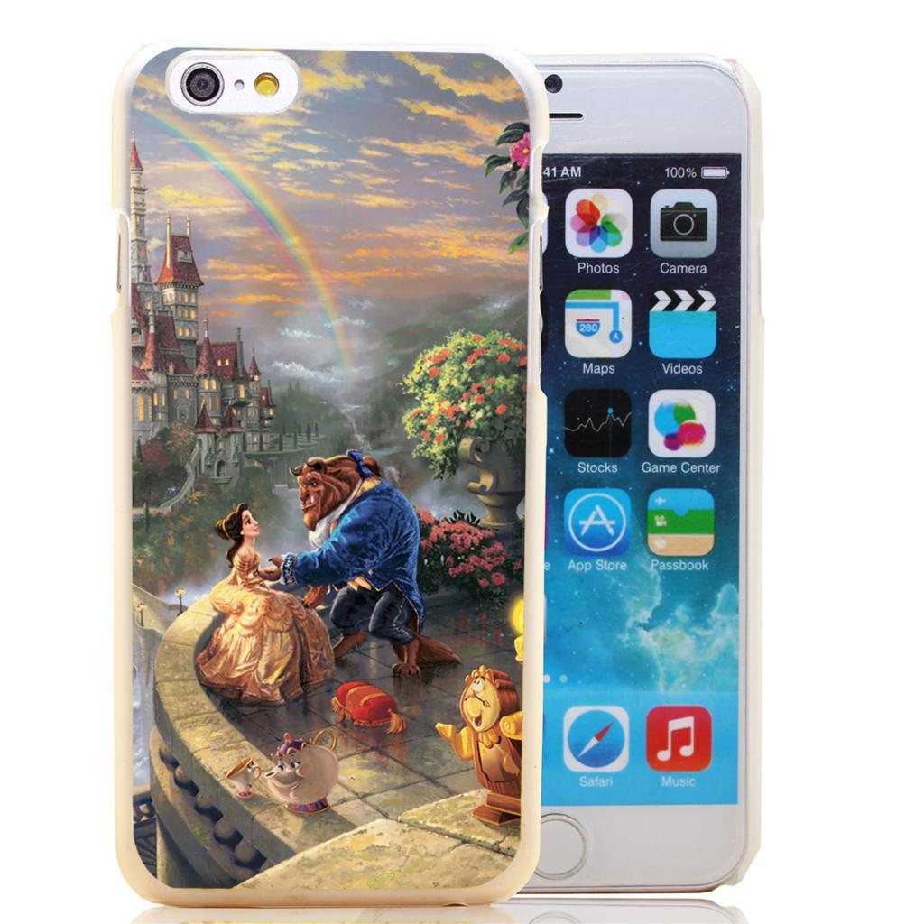 1744-HOQE thomas kinkade beauty and the beast Transparent Hard Case Cover for iPhone 6 6s plus 5 5s 5c 4 4s Phone Cases